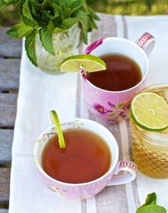 For some reason I prefer drinking hot tea in the spring. In the winter I drink more coffee, but come spring I love to try fun flavored teas.