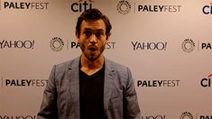 Hugh Dancy pretending to be a pineapple. I have honestly never seen a pineapple that looks like that. What even is that?