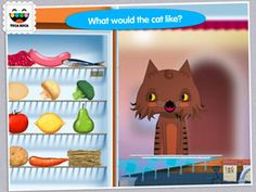 The Toca Kitchen App lets your children cook and serve food to a variety of hungry animals. Just don't try feeding broccoli to the cat! Download here to start the fun! http://bit.ly/HxuAW2