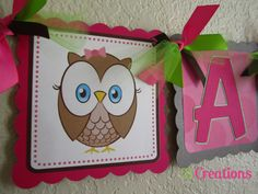 Owl Look Whoo's One Name Banner by on Etsy Owl Themed Parties, 1st Birthday Parties, Party Themes, Name Banners, First Names, First Birthdays, Lunch Box, Handmade Gifts, Etsy