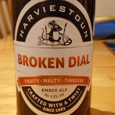 Has a malty / bitter taste to it. - Drinking a Broken Dial by Harviestoun Brewery at Southowram on Untappd