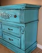 chalk painted furniture ideas - Hallway cabinet