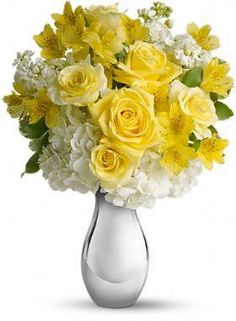 Your apartment needs some flowers flower bouquets pinterest so pretty bouquet its like sunshine and moonlight in are gloriously happy gift soft yellow roses white hydrangea and other favorites showcased in a mightylinksfo