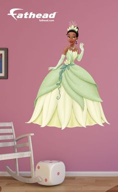 Disney Wall Decals | Our Princess Tiana Fathead Wall Decal is perfect for a birthday, graduation, holidays or just because. This gift is one that any The Princess and the Frog fan will always remember. SHOP http://www.fathead.com/disney/the-princess-and-the-frog/princess-tiana/ Home Decor DIY, Removable, Reusable, Easy to Apply, Peel & Stick | Girls Bedroom