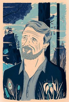 (Pulitzer Prize winning) Poet Gary Snyder. His work most famously reflects upon nature and Buddhist spirituality. The Acid Rambler, The Church of London- by Adam Hancher