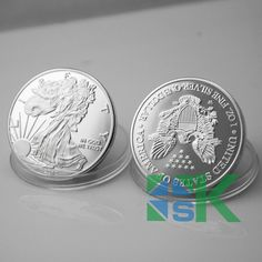 Non-magnetic 2010 American  upside eagle down silver coin