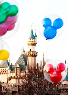 Disneyland..one of my1st memories was having a red Mickey ballon