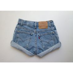 All Sizes Vintage Hercules Levis High Waisted Denim Shorts High... ($28) ❤ liked on Polyvore featuring shorts, jean shorts, cut off denim shorts, high-rise shorts, cut off shorts and high-waisted denim shorts