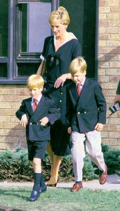 Diana and her boys.