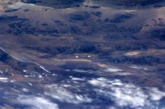 Ivanpah solar power plant in Mojave Desert, California. Picture: Astronaut Rick Mastracchio, 4/Jan/14.