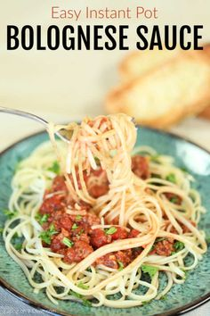 Enjoy Instant Pot Bolognese Sauce Recipe in minutes thanks to this easy recipe. Get dinner on the table in under 20 minutes for a hearty meal. What Is Bolognese, Bolognese Sauce, Easy Pressure Cooker Recipes, Pressure Cooking, Beef And Potato Stew, Mississippi Pot Roast, Zucchini Noodle Recipes, Homemade Dinner Rolls, Special Recipes