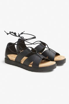 5904cc5d626f Monki. Faux leather sandals - Black magic - Shoes ...