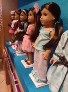 Some of grace's out fits at the ag doll store