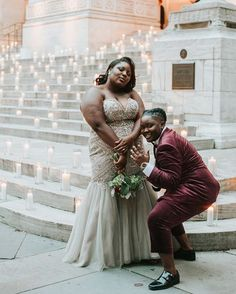 Bri and Denisha traveled from Detroit to NYC for their elopement and it was worth it: Look at this gorgeous photo in front of the Their energy is 🔥 .  [Two marriers, one in an off-white beaded dress and the other in a burgundy suit, pose ou Wedding Photography Inspiration, Engagement Photography, White Beaded Dress, Vintage Bridesmaid Dresses, Aisle Style, Lesbian Wedding, Wedding Vendors, Wedding Engagement, Fall Wedding