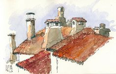 Limeuil chimneys