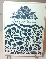 Floral Congratulations--Detailed Floral Framelit Dies, Floral Phrases stamp set #stampinup