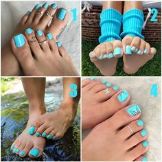 @staircase_toes Pedicure Colors, Pedicure Designs, Toe Nail Designs, Cute Toe Nails, Cute Toes, Pretty Toes, Pretty Pedicures, Painted Toes, Feet Nails