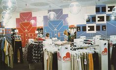 The Gap, typical store interior (in the 70s) by Harry Murphy + Friends