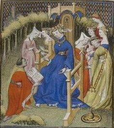 Giovanni Boccaccio, De Claris mulieribus;  Paris Bibliothèque nationale de France MSS Français 598; French; 1403, 3r. http://www.europeanaregia.eu/en/manuscripts/paris-bibliotheque-nationale-france-mss-francais-598/en