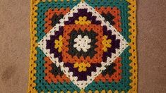 Transcendent Crochet a Solid Granny Square Ideas. Inconceivable Crochet a Solid Granny Square Ideas. Crochet Blocks, Granny Square Crochet Pattern, Crochet Squares, Crochet Motif, Crochet Doilies, Crochet Stitches, Crochet Granny, Free Crochet, Easy Crochet Blanket
