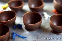 How To Make Chocolate Ice Cream Cups Using Balloons.