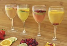 Wine spritzer recipes for all seasons! #AldiFresh