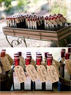 Note: another look on olive oil favors, really pretty    olive oil wedding favors made by Bear Flag Farm
