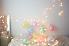 lights and balloons