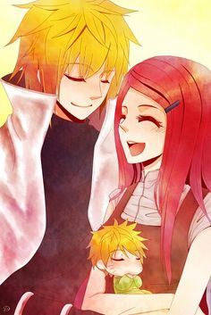 Naruto, Minato and Kushina
