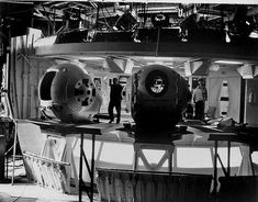 2001: A Space Odyssey - Set of the spacecraft 'Discovery' Pod-Bay area. Shepperton Studios England.