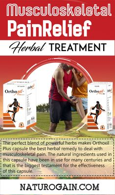 Musculoskeletal Pain Relief Herbal Treatment, Natural Remedies Orthoxil Plus capsules and oil is the best musculoskeletal pain relief herbal treatment. These natural supplements treat inflammation, broken bones, swelling and stiffness. Rheumatoid Arthritis Treatment, Arthritis Pain Relief, Types Of Arthritis, Arthritis Symptoms, Skin Care Remedies, Herbal Remedies, Natural Remedies, Natural Supplements