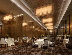 Modern banquet hall at the restaurant