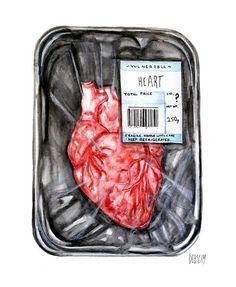 Illustration by Deblism Anatomical Heart, Heart Images, Human Heart, Anatomy Art, Selling Art, Heart Art, Art Inspo, Art Drawings, Drawing Art