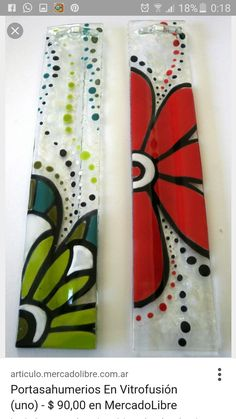Fuentes en vitrofusion Fused Glass Plates, Fused Glass Art, Mosaic Glass, Stained Glass Crafts, Stained Glass Patterns, Glass Fusing Projects, Bee Creative, Mirror Painting, Glass Flowers
