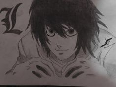 L death note. http://drawingbazar.blogspot.in/