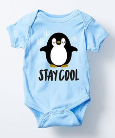 Another great find on #zulily! Light Blue 'Stay Cool' Bodysuit - Infant #zulilyfinds