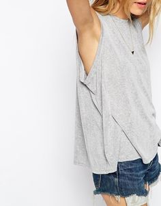 Enlarge ASOS Sleeveless Swing Top In Fine Crepe