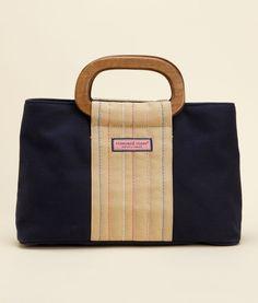 Wood Handle Satchel
