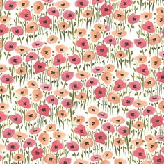 BOUFFANTS & BROKEN HEARTS. Garden flower print