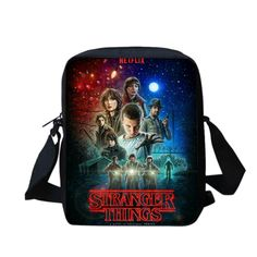 Stranger things handbag messenger bag for kids back to school bags 08