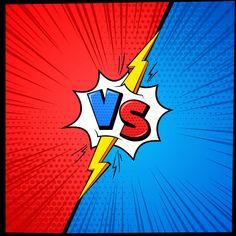 Vs cartoon background versus letters comic book vector image on VectorStock Pop Art Background, Cartoon Background, Comic Book Frames, Comic Books, Mma Fighting, African American Girl, Challenge, Comic Styles, Game Art