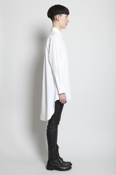 Yohji Yamamoto Oblique Yoke Blouse (White)