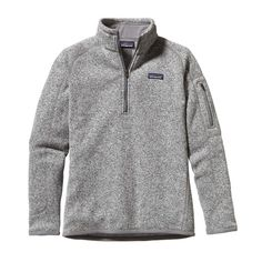 Get it a size too big and be comfy for ever. Goals, I have them. [Patagonia Women's Better Sweater 1/4-Zip Fleece - Birch White BCW]