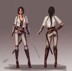 ArtStation - Female character design- fencer, Fred Almén