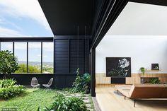 Australian architect turns Brisbane investment property into a modern garden paradise Architecture Awards, Residential Architecture, Brisbane, Villa, Old Cottage, Queenslander, Australian Homes, Investment Property, Architect Design