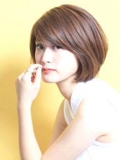 "Adult Layer Bob ""Melty x Konase"" Haircuts For Medium Length Hair, Medium Hair Cuts, Short Bob Hairstyles, Hairstyles Haircuts, Short Hair Cuts, Haircut Medium, Asian Short Hair, Asian Hair, Haircut For Big Forehead"