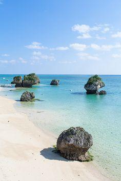 Beautiful Southern Japanese coastline on New Years, Okinawa