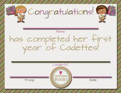 Fashionable Moms: Girl Scouts: FREE Printable First Year Certificates