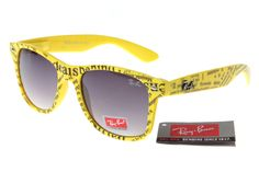 Cheap Rare Print Ray Ban RB81040 Yellow Pattern Frames Grey Lens  $14.87
