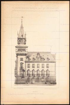 Titel Rathaus. (Aus: J.C. Raschdorff, Baukunst der Renaissance, 1880.)…